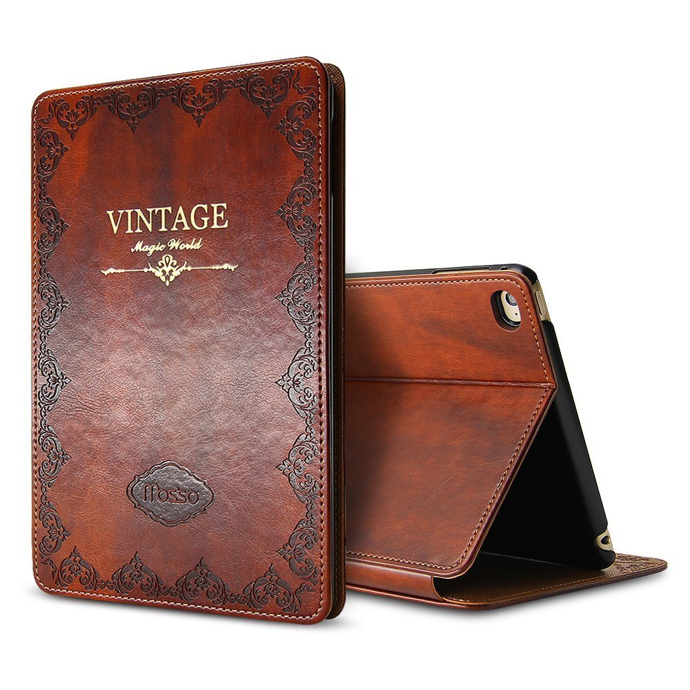 Dir-Maos For IPad Air 1 Air 2 9.7'' 5th 2017 6th 2018 Case Luxury Genuine Leather Smart Cover Business Stand Holder Fashion Book