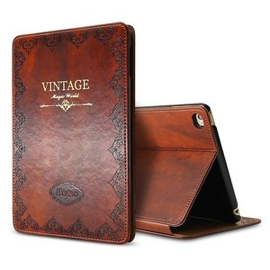 Image 1 - for iPad Air 1 Air 2 9.7 5th 2017 6th 2018 Case Luxury Vintage PU Leather Smart Cover Fashion Business Stand Holder Book