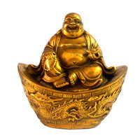 Brass Sculpture Dragon And Phoenix Ingot Laughing Buddha Statues Free Mxsabrina Red String Bracelet M5031