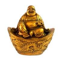 Brass Sculpture Dragon And Phoenix Ingot Laughing Buddha Statues Free Mxsabrina Red String Bracelet M5031