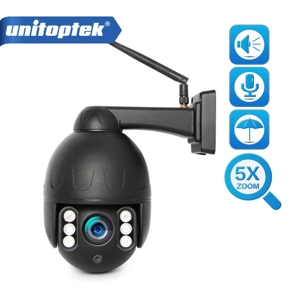 Super Mini PTZ Speed Dome Wireless IP Camera WiFi 1080P CCTV 5x Optical Zoom IR 50m