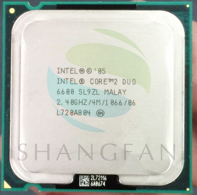 Intel E6600 SL9ZL escritorios Original cpu Procesador 2 M/2.4 GHz/1066 FSB LGA 775 de, usado segunda mano  Se entrega en toda España