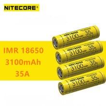 4pcs 기존 nitecore imr18650 imr 18650 3100 mah 35a 3.7v 배터리 높은 드레인 충전식 배터리 vaping 장치에 이상적