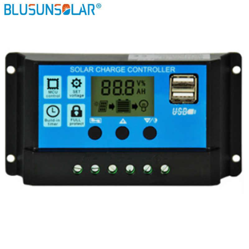 ATATMOUNT PWM 10//20 24V 30A Dual USB Pannello Solare Regolatore Batteria Regolatore di Carica LCD 12