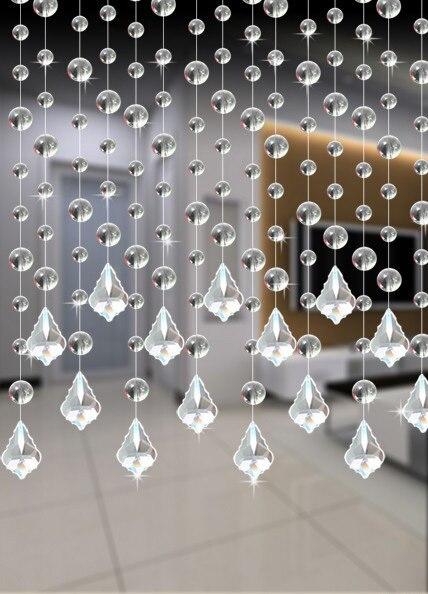 33 Streifen 12 Meter Mischfarbe Hängen Kristallglas Girlande