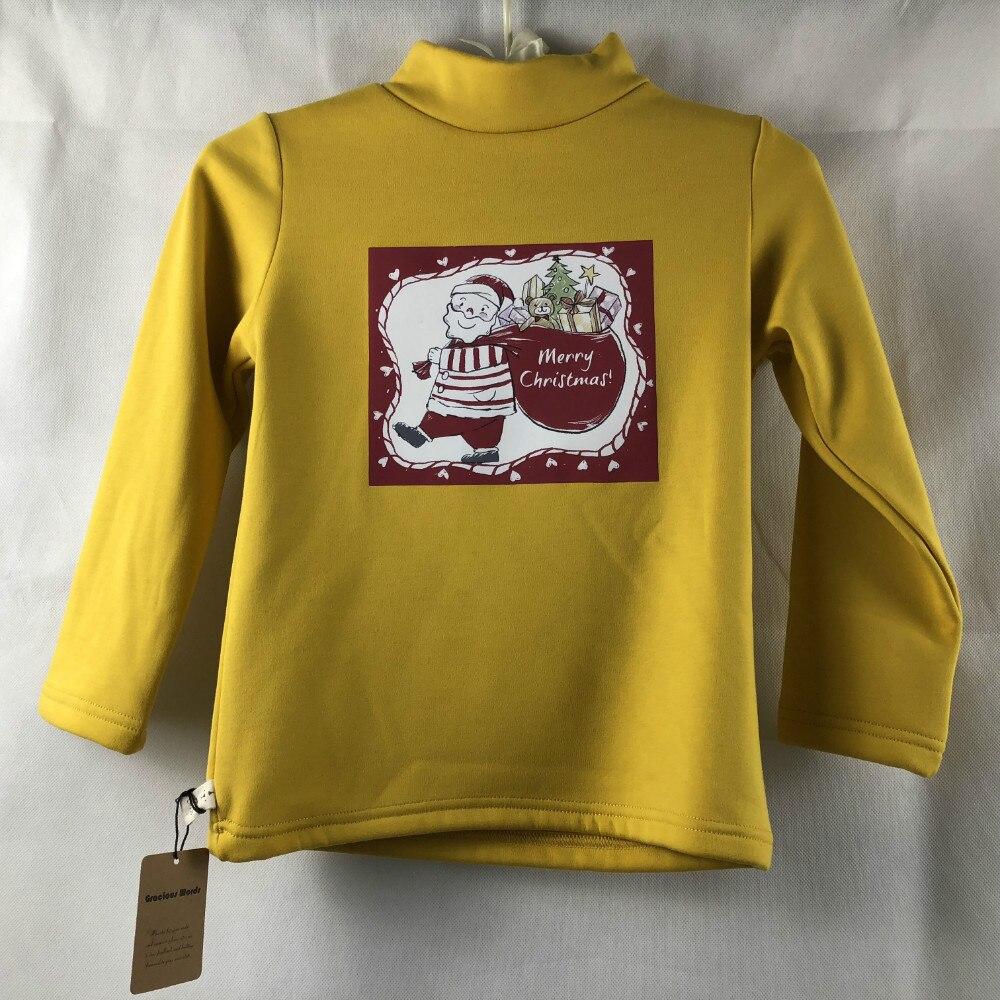christmas tshirt Winter Children Girls Clothing Casual Kids Velvet ...