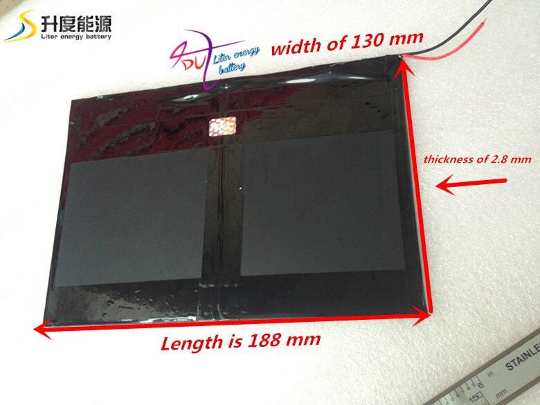 Tablet PC talk9x u65gt battery 28 130 188 3 7V 10000 mah Li ion battery for