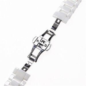 Image 5 - Aplicável para armani cerâmica relógio 20mm23mm preto branco brilhante pulseira cerâmica relógio modelo ar1424 ar1472 ar1421 ar1424 pulseiras de relógio