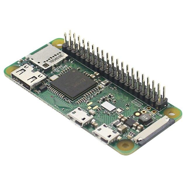 Yeni varış ahududu Pi sıfır WH 1GHz 512Mb RAM dahili WiFi ve Bluetooth ile 40Pin önceden lehimli GPIO başlıkları Pi sıfır W