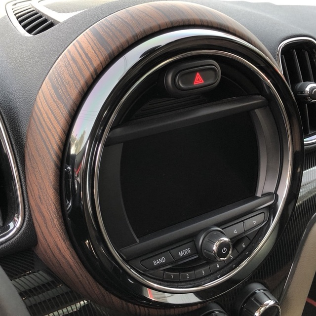 Wood Grain Car Interior Instrument Central Center Control Panel Cover Trim Frame Decoration For Mini Cooper