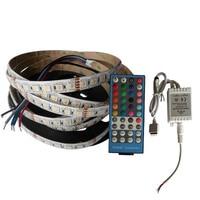 1 مجموعات x جودة عالية 24 فولت rgbw led قطاع الخفيفة 60led/م 5 متر/لفة + 40key rgbw led المراقب شحن مجاني