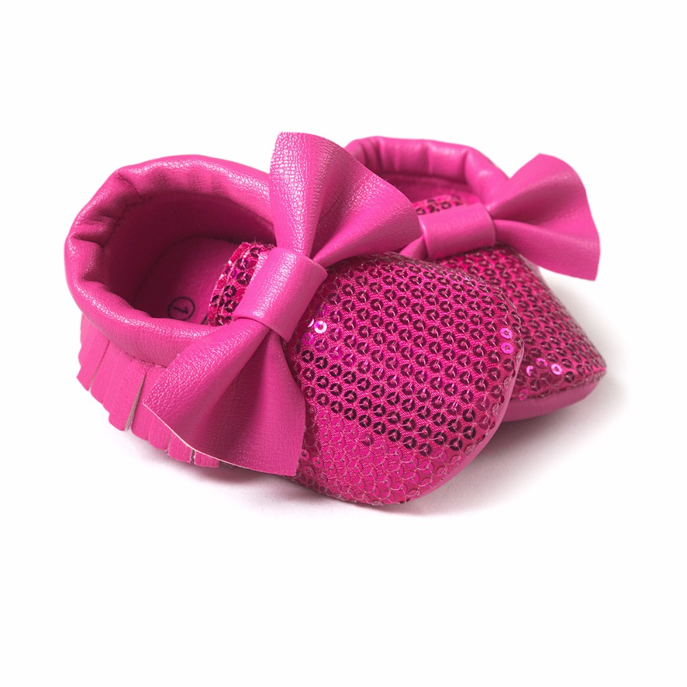 Humorous 2016 Newest Styles Baby Soft Tassel Moccasins Girls Moccs Baby Booties Shoes Bowknot Design Mocs Infant Shoes Hot Pink Color First Walkers Mother & Kids