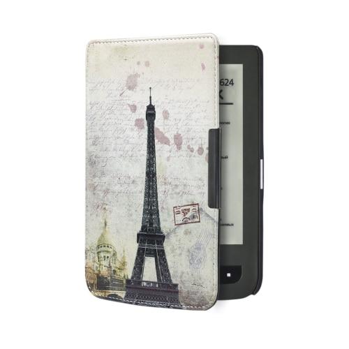 Folio PU LEATHER case capa livro para livro de bolso toque lux 3 ereader pocketbook 626 plus + dom gratuito