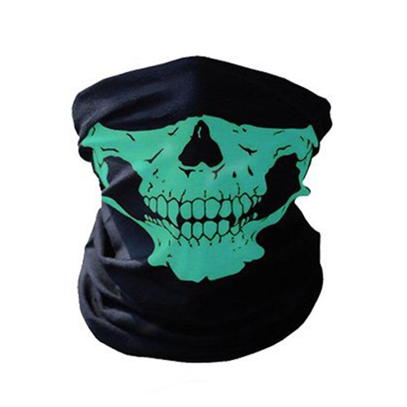 1 шт. для женщин мужчин велосипед Мотоцикл Череп Бандана Шарф средства ухода за кожей шеи маска-шлем для лица - Цвет: green