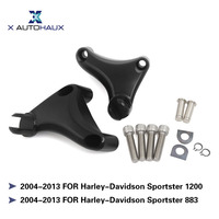 X AUTOHAUX 2PCS Passenger Rear Foot Pegs Mount Rear Left Right Foot Rests For Harley Davidson