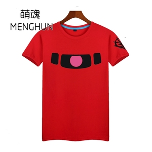 Hot Gundam Anime t shirt Zaku forest green t shirt with zion logo shoulder printing high quality t shirt for gundam fans ac382(China)