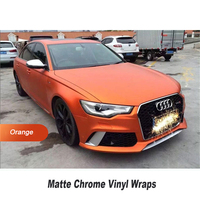 High Stretchability Chrome Vinyl Wraps Orange Vinyl Car Wrap Sticker 5ft X 65ft Roll Quality Assurance
