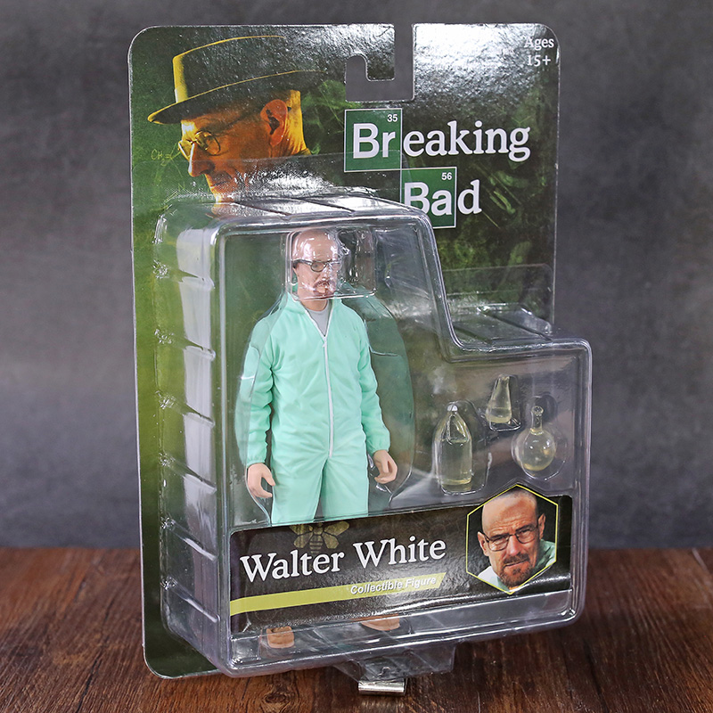 MEZCO Toys Breaking Bad Heisenberg Walter White In Green Hazmat Suit PVC Figure Collectible Model Toy 16cm image