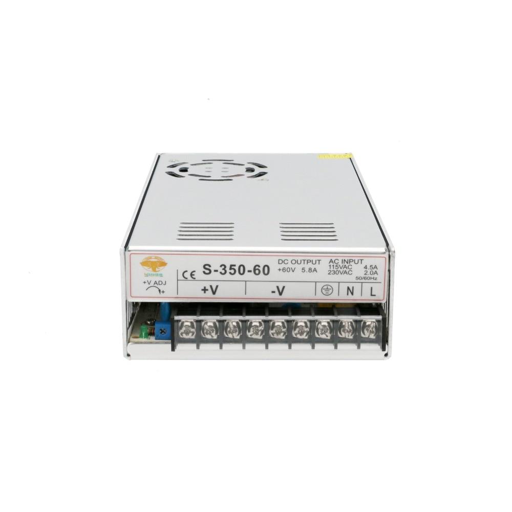 Free Ship US&US Ship Power Supply 350W 60V Single Output Power Supply 350W/60V for Nema34 Stepper motor CNC Router Milling