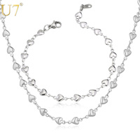 Necklace Set 2014 New Heart Jewelry Romantic Gift For Women High Quality 316L Stainless Steel Necklace