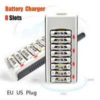 2017 New high quality Fast 8 slots nimh nicd battery charger with LED indicator for AA AAA battery
