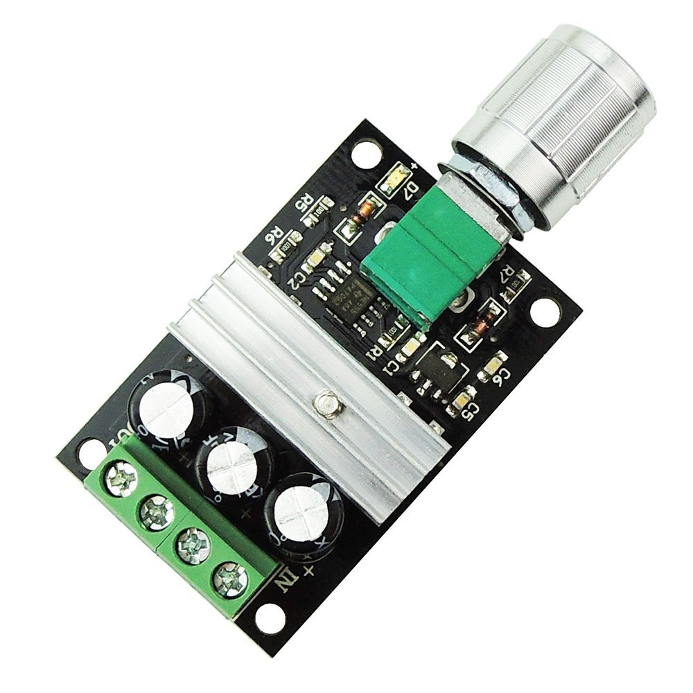 6V 12V <font><b>24V</b></font> 28V 380W <font><b>DC</b></font> <font><b>Motor</b></font> Speed Controller PWM Adjustable Variable Speed Switch <font><b>DC</b></font> <font><b>Motor</b></font> <font><b>Driver</b></font> 1203BK Silver Switch image