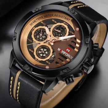 Top Brand Luxury Brand NAVIFORCE 9110 Casual Quartz Watch with box
