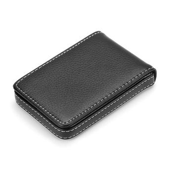 Sprzedaż hurtowa nowe Pu skórzane etui na karty męskie wizytownik na karty biznesowe przenośne etui na dowód dla kobiet metalowe etui na karty kredytowe tanie i dobre opinie weduoduo Unisex Stałe 6 5cm 10 3cm Id posiadacze kart Nie zamek Moda Karta kredytowa Stainless Steel+PU Leather black coffee