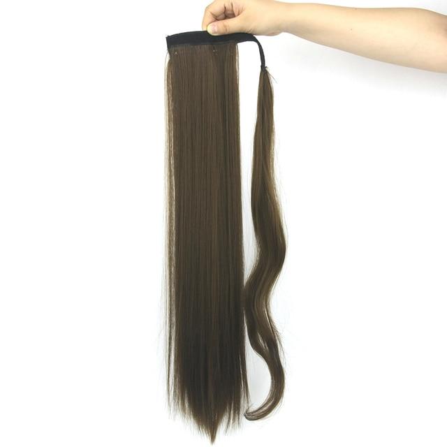 Soowee Straight Fake Hair Drawstring Little Pony Tail Heat Resistant