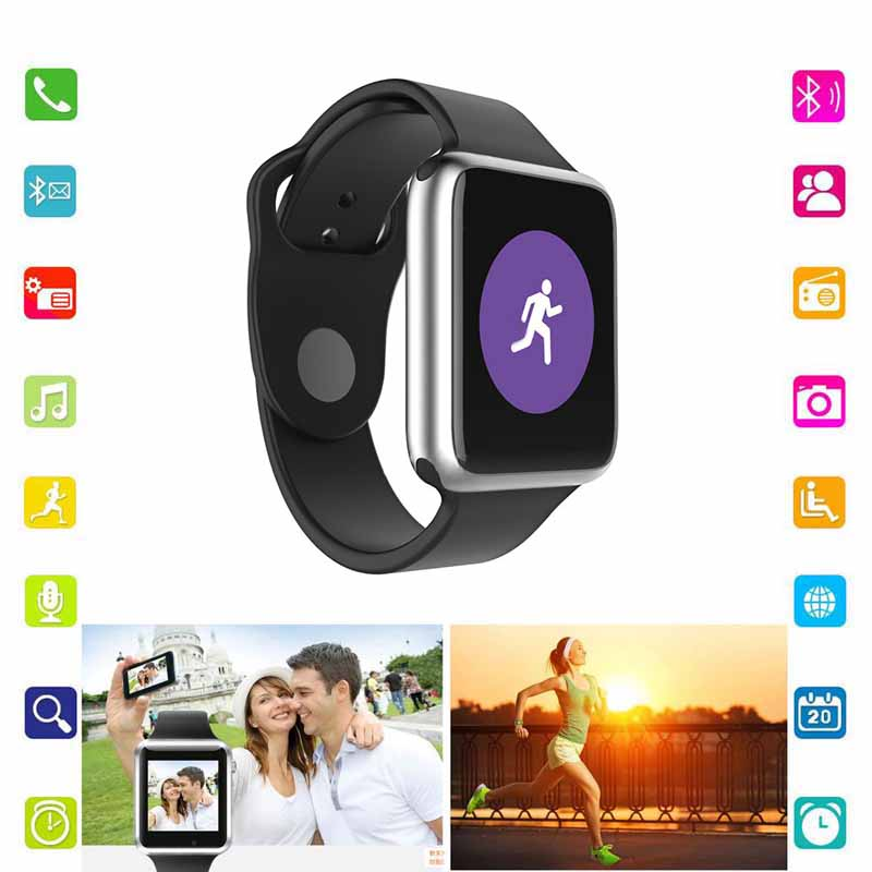 A1 Smart Watch Android New Smartwatch With Camera Bluetooth Sport Pedometer Tracker Wearable Device Call For iOS PK DZ09 U8 GT08