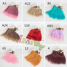 Wholesale 10pcs/lot 20*100cm Synthetic Afro Wave Fluffy Hair Extensions Tiny Water Wavy Doll Hair Wefts for bjd/sd DIY hair wigs(China)