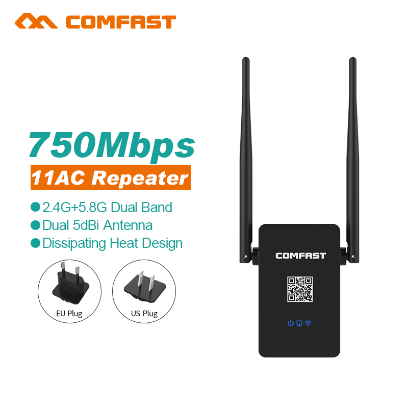 750M COMFAST Dual Band Wifi Repeater 802 11AC 2 4G 5 8G Wi fi Router AC