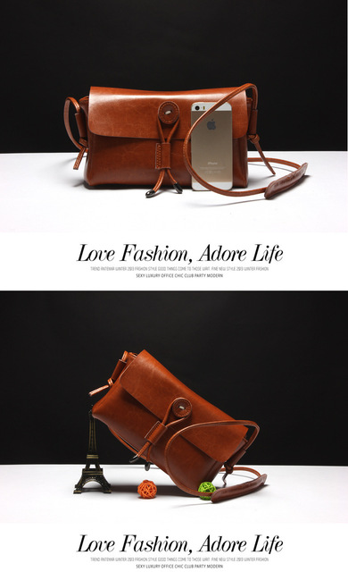 XMESSUN Brand 2017 Fashion 100% Genuine Leather Bag Women Messenger Bag Vintage Shoulder Bags Small Cowhide Wax Leather Bag M152