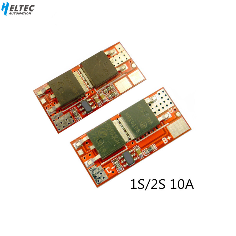 10A 1S 2S 4.2V PCB PCM BMS Charger Charging Module 18650 Li-ion Lipo 1S 10A /2S 10A BMS Lithium Battery Protection Circuit Board