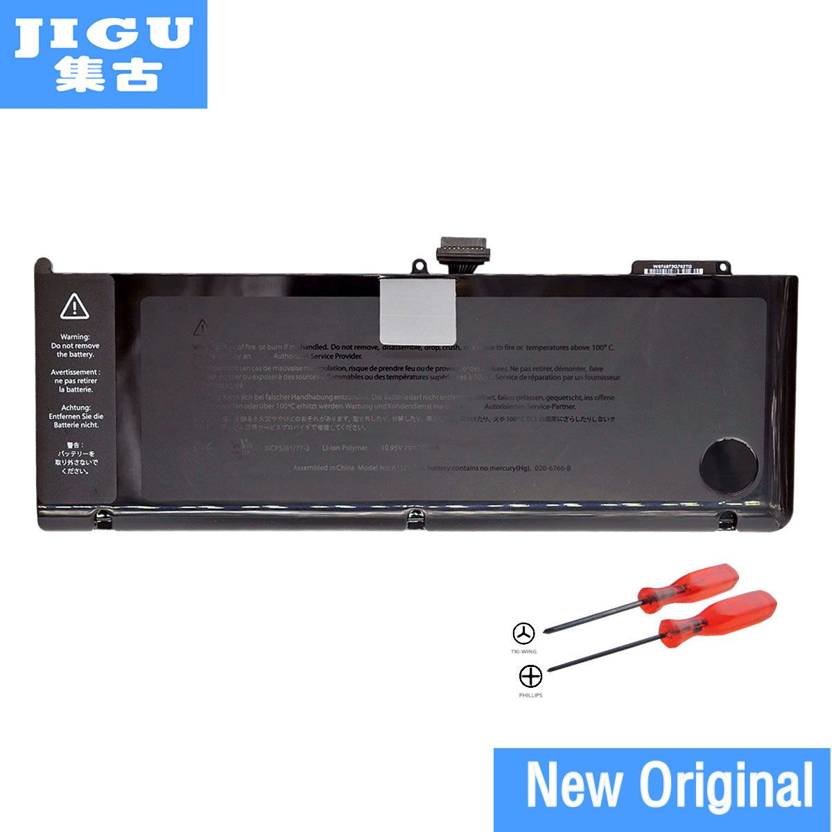 JIGU A1321 Original Laptop Battery For Apple MacBook Pro 15 A1286 year 2009 2010 MB985 MC986 MC118 MC372 MC373 MC371 original a1706 a1708 lcd back cover for macbook pro13 2016 a1706 a1708 laptop replacement