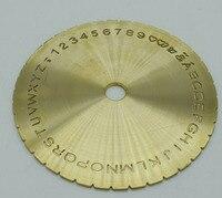 FreeShipping Letter Plate New Letter Type Dial Font Disc Modern Block Inside Ring Engraving Machine 12
