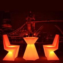 SK-LF28T (L60 * W52 * H76cm) LED Diamont Форму Бар Мебель Журнальный Столик для Сада Открытый Вечеринку бесплатная доставка 1 шт./лот