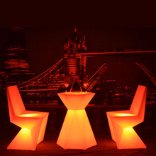 SK-LF28T (L60*W52*H76cm) LED Diamont Shape Bar Furniture Cocktail Table for Garden Outdoor Event Party free shipping 1pc/lot