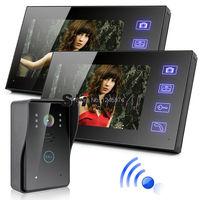 2.4G 7 TFT LCD Monitor Wireless Video Intercom Doorbell Home Security Camera Monitor