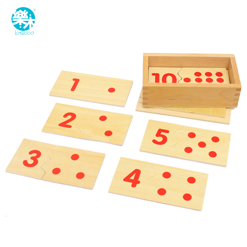 Montessori Number Puzzles Wooden Toy Number Cards Educational Toy for Kids 6A
