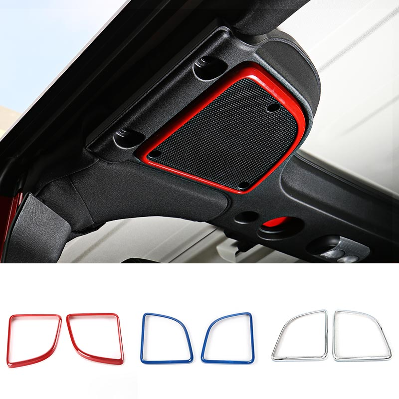 MOPAI ABS Car Interior Decoration Roof Door Speaker Cover Trim Stickers For Jeep Wrangler 2015 Up Car Styling mopai abs car interior gps panel frame