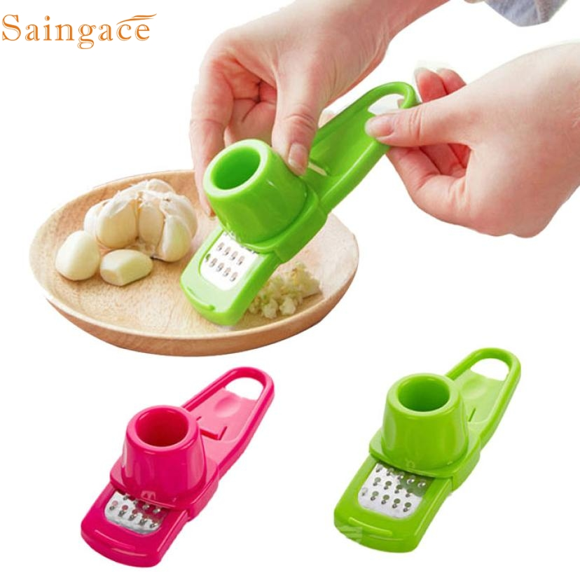 11.11 High Quality Multifunction Stainless Steel Pressing Garlic Slicer Cutter Shredder Kitchen Tool(China)