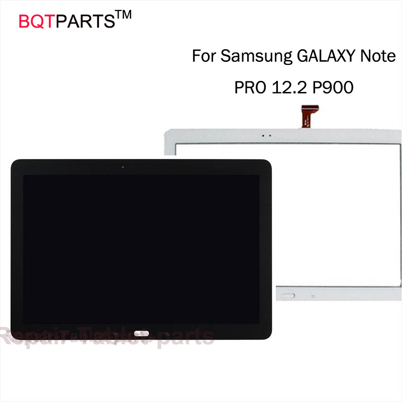 ФОТО BQT Tested Touch Screen For Samsung GALAXY Note PRO 12.2 P900 P901 P905  lcd display + Touch screen Digitizer Glass Panel