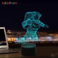 3D Astronaut Night Lamp 7 Color Change LED Illusion Visual Night Light Kids Bedroom Decoration Sleeping Lamp