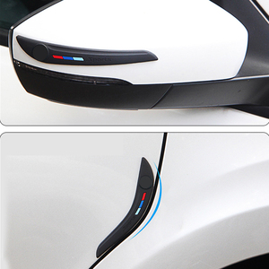 Car Door Side Edge Protection Vehicle Bumper Rear View Mirror Corner Protector Guard Scratch Sticker Rubber Silane Universal(China)