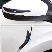 Porta do carro de proteção borda lateral veículo pára choques espelho retrovisor canto protetor protetor scratch adesivo borracha silane universal