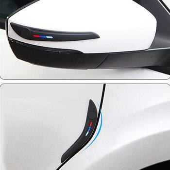 Protetor de borracha para porta de carro, proteção para borda lateral, veículo, espelho retrovisor, protetor de canto, arranhão, borracha, silane universal