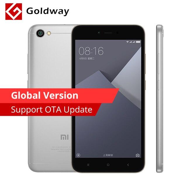 "Global Version Original Xiaomi Redmi Note 5A Mobile Phone 2GB RAM 16GB ROM Snapdragon 425 Quad Core 5.5"" 13.0MP"