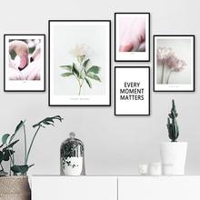 Nordic Canvas Painting Canvas Prints Pink Flamingo Poster Landscape Picture Wall Art for Home Room Poster Quote Prints Unframed w005 calla lily unframed art wall canvas prints for home decorations
