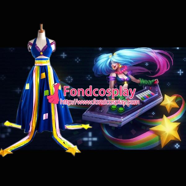 Lol Sona Maven des cordes Tai jeu Cosplay Costume sur mesure [G996]